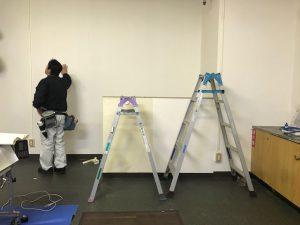 福岡 北九州 クロス 壁紙 張替え 教室 小倉美装 教室の様子